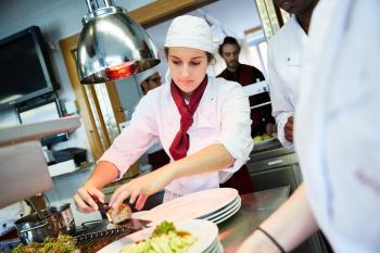 Praxisunterricht in der Küche